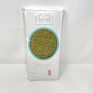 NEW Posh Peanut Olive Green Swaddle Blanket 44x44
